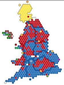 イギリス総選挙 議席確保具合