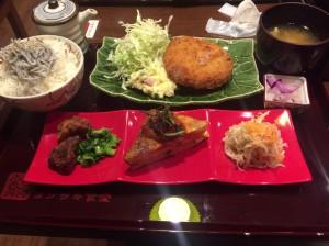 ヨシザキ食堂 湘南豚のメンチカツ定食